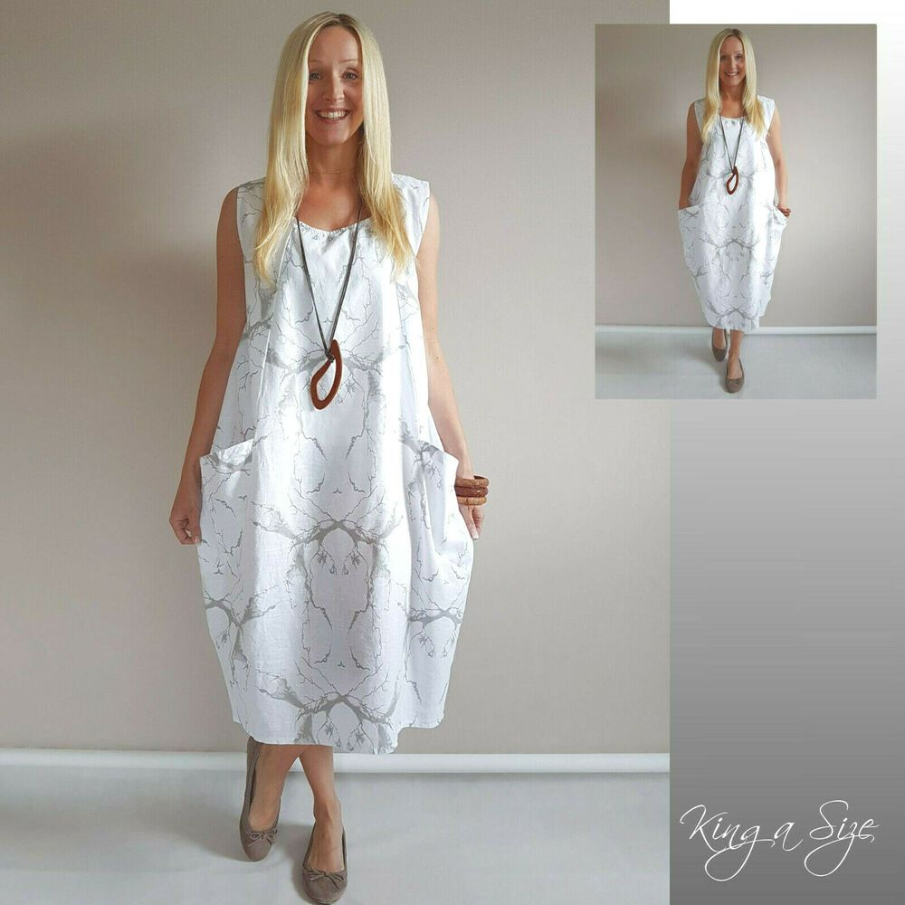 italy sommer kleid - lagenlook / casual dress lose outfits