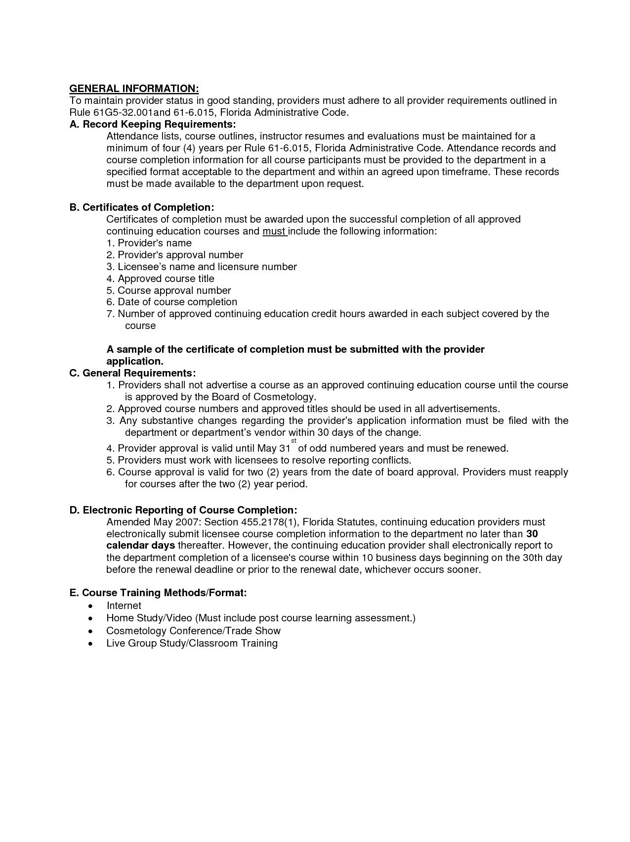 Resume For Cosmetology Instructor
