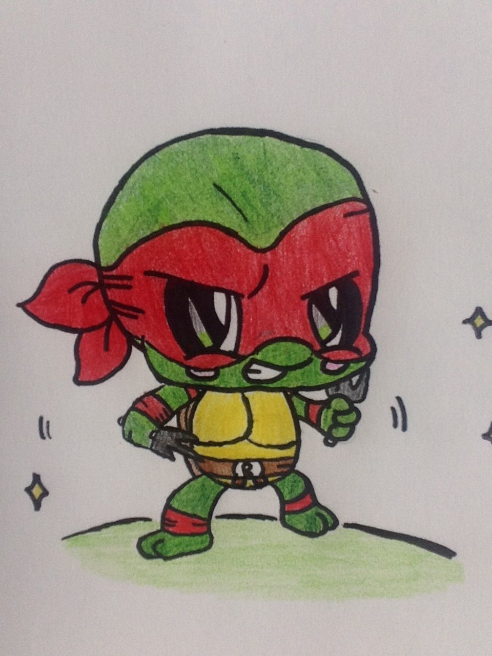 My TMNT Raphael drawing in honor of the new movie Teenage ...
