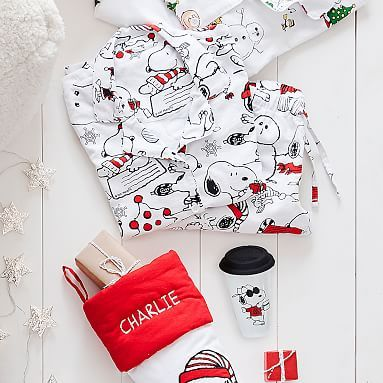 a235468b27 Peanuts® Flannel Snoopy® Multi Pajama Set  pbteen