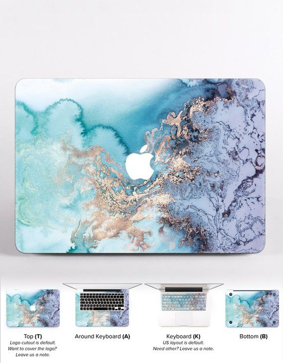 Gold Blue Marble 13 Case Macbook Cover Air 11 Pro Retina 15 12 Hard Shell Inch