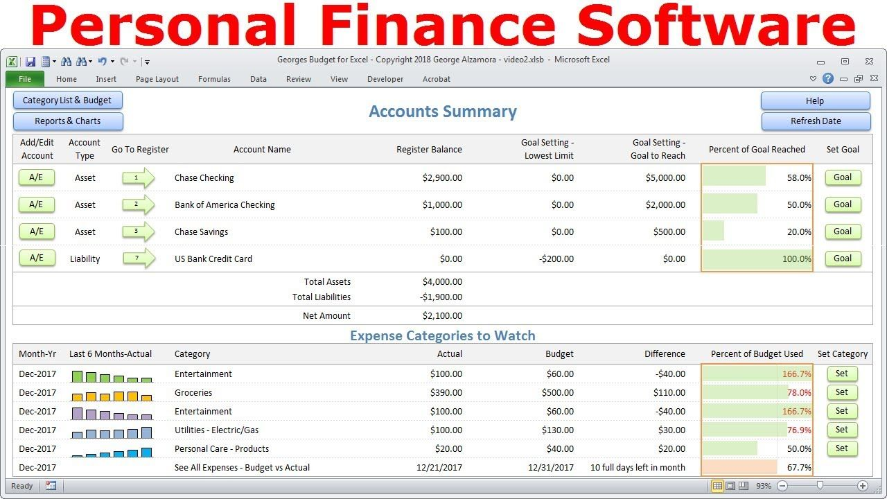 Top Budget Software Personal Finance Software Simple