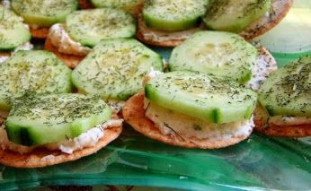 Cucumber and Cream Cheese Appetizers.... ;)  www.getskinnywithpia.com