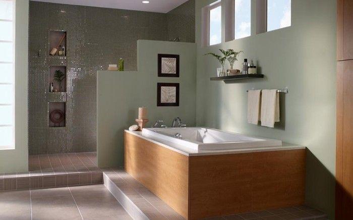 Peinture salle de bain - 80 photos qui vont vous faire craquer - porte serviette a poser