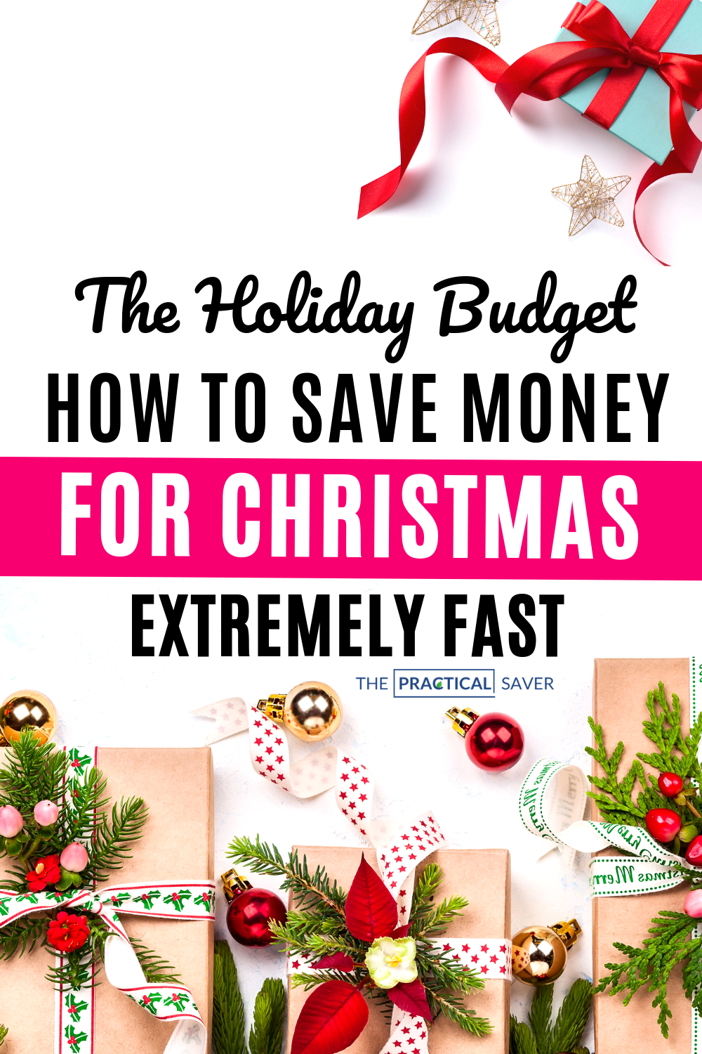 With Christmas just around the corner you need to save money now to avoid debt this holiday. Learn best personal finance tips to save money fast for this Christmas season. Budget hacks to trick yourself into saving money. | The Practical Saver | #holidaytips #savemoney