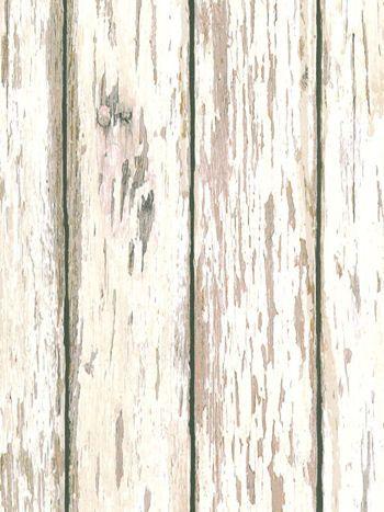 Distressed White Wood Wallpaper