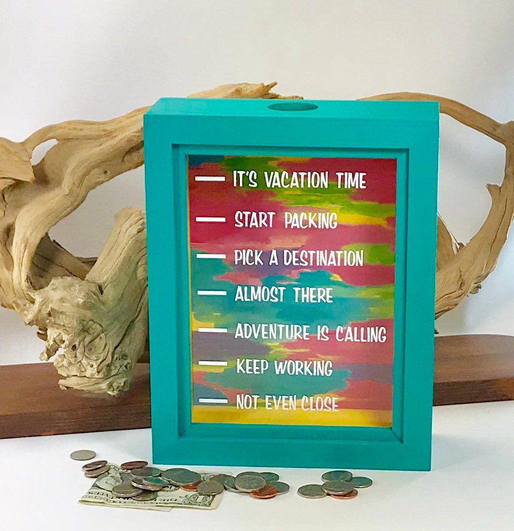 Vacation Money Shadow Box Bank Holiday Travel Bank Retirement