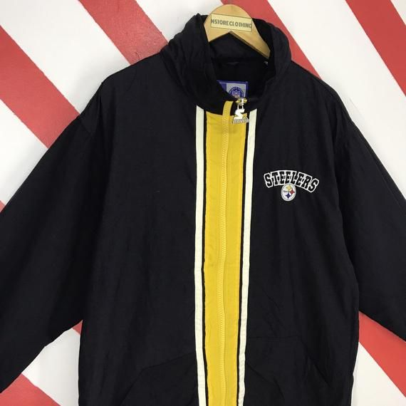 newest cbc7b 57808 Vintage 90s Pittsburgh Steelers Jacket Steelers Starter ...