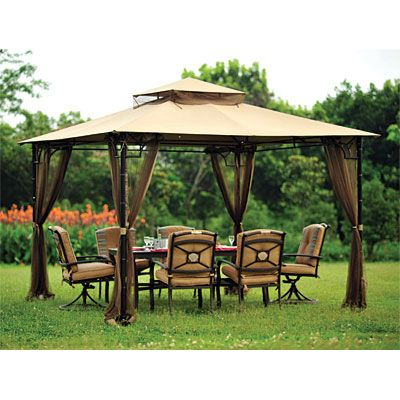 Replacement For Wilson And Fisher 10 X10 Bamboo Look Gazebo Backyard Gazebo Outdoor Gazebos Gazebo Pergola