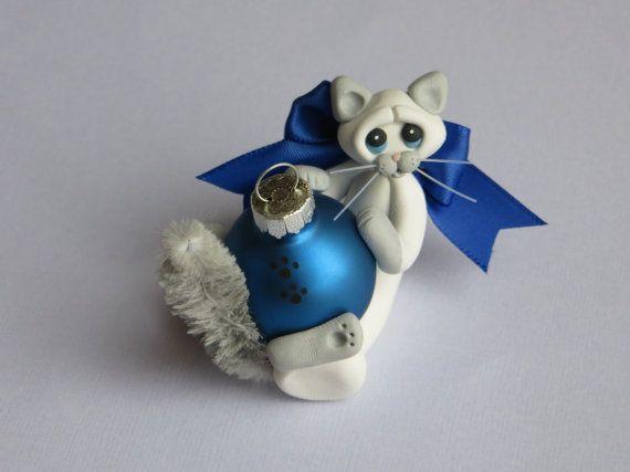 Christmas Ornament Polymer Clay Siamese Ragdoll by HeartOfClayGirl, $12.95