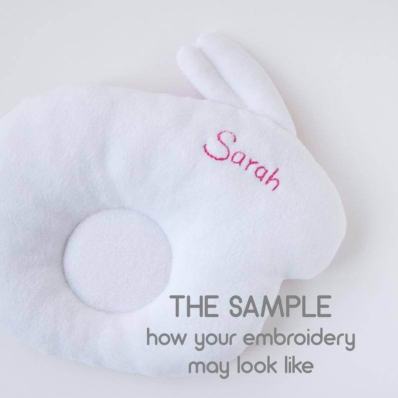 Bunny Baby pillow Rabbit Prevent Flat Head Baby support Newborn gift Personalized baby boy girl gift