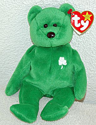 41a785b7a6a Ty Erin Emerald Green Irish Bear Beanie Baby 1998-1999