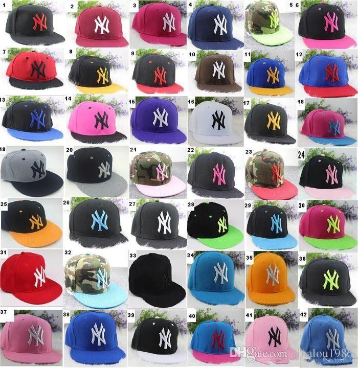 8a65c518 42 colors Yankees Hip Hop Snapback Baseball Caps NY Hats Unisex Sports New  York Women casquette Men Casual headware