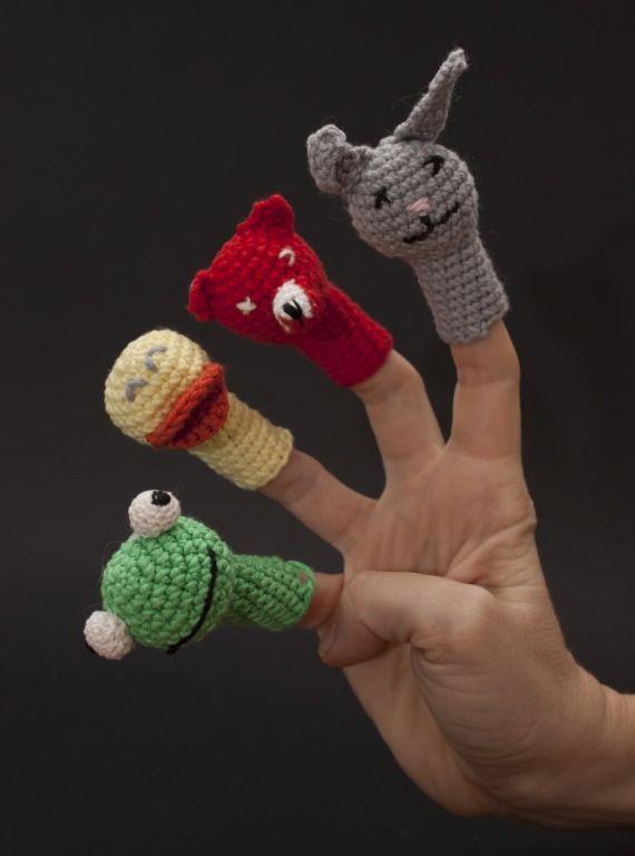 Títeres de dedo de animales del bosque, Niños y bebé, Juguetes ...