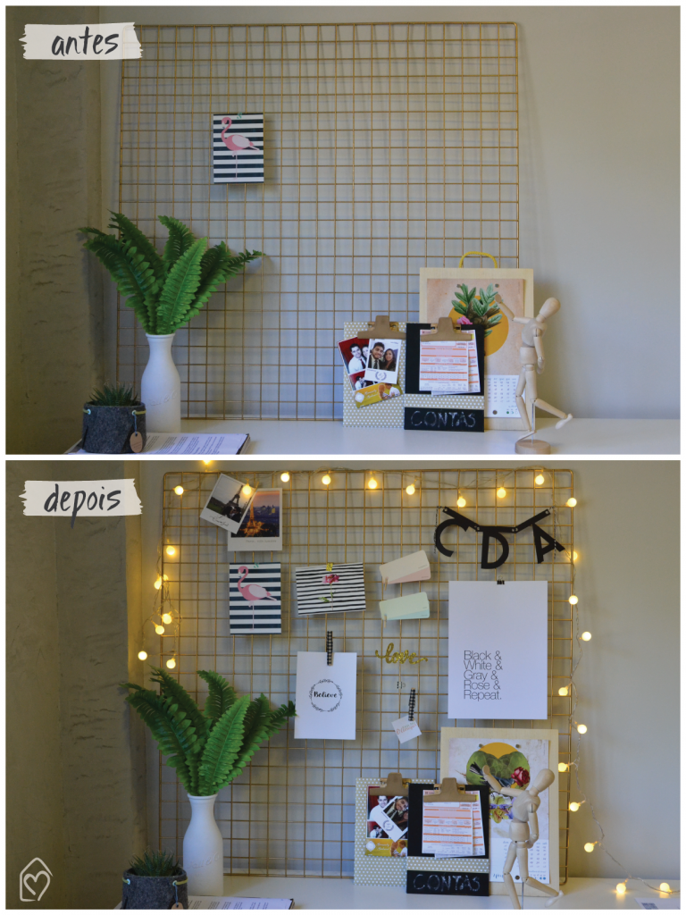 Diy como fazer um mood board com grade met lica craft for Metallgitter deko