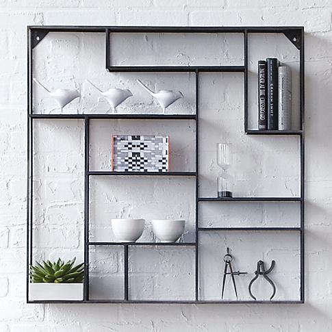 newest dfee6 eb450 CB2 Alcove Wall Shelf | homey things | Wall shelves, Modern ...