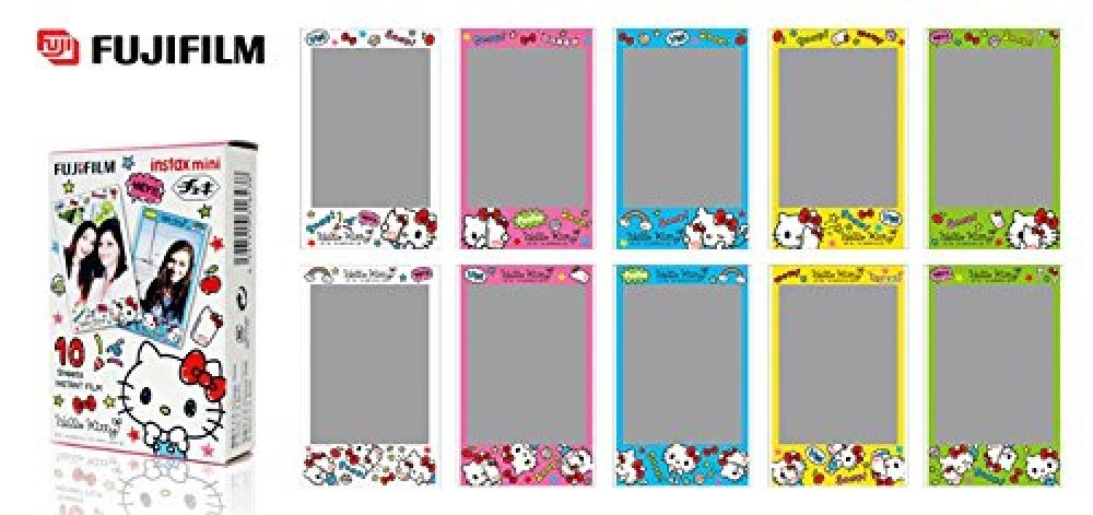 1567a4ebb Feature: Brand: Fujifilm Film size : 86 x 54 mm Picture size : 62 x 46 mm  Country of Origin : Japan Frame Pattern: Hello Kitty Suitable for Fujifilm  Instax ...