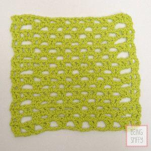 Vibrant V-Stitch Crochet Dishcloth