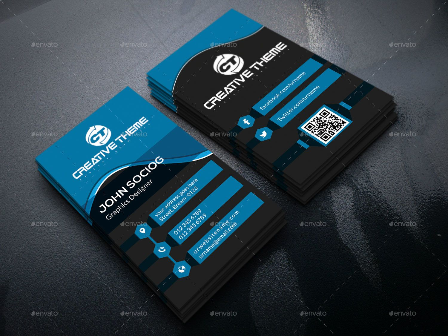 Creative Business Card Templates | Визитки | Pinterest | Card ...