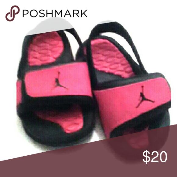 a983c176926068 Toddler girl Jordan slides size 4 Excellent condition. Worn only a few  times Jordan Shoes Sandals Flip Flops