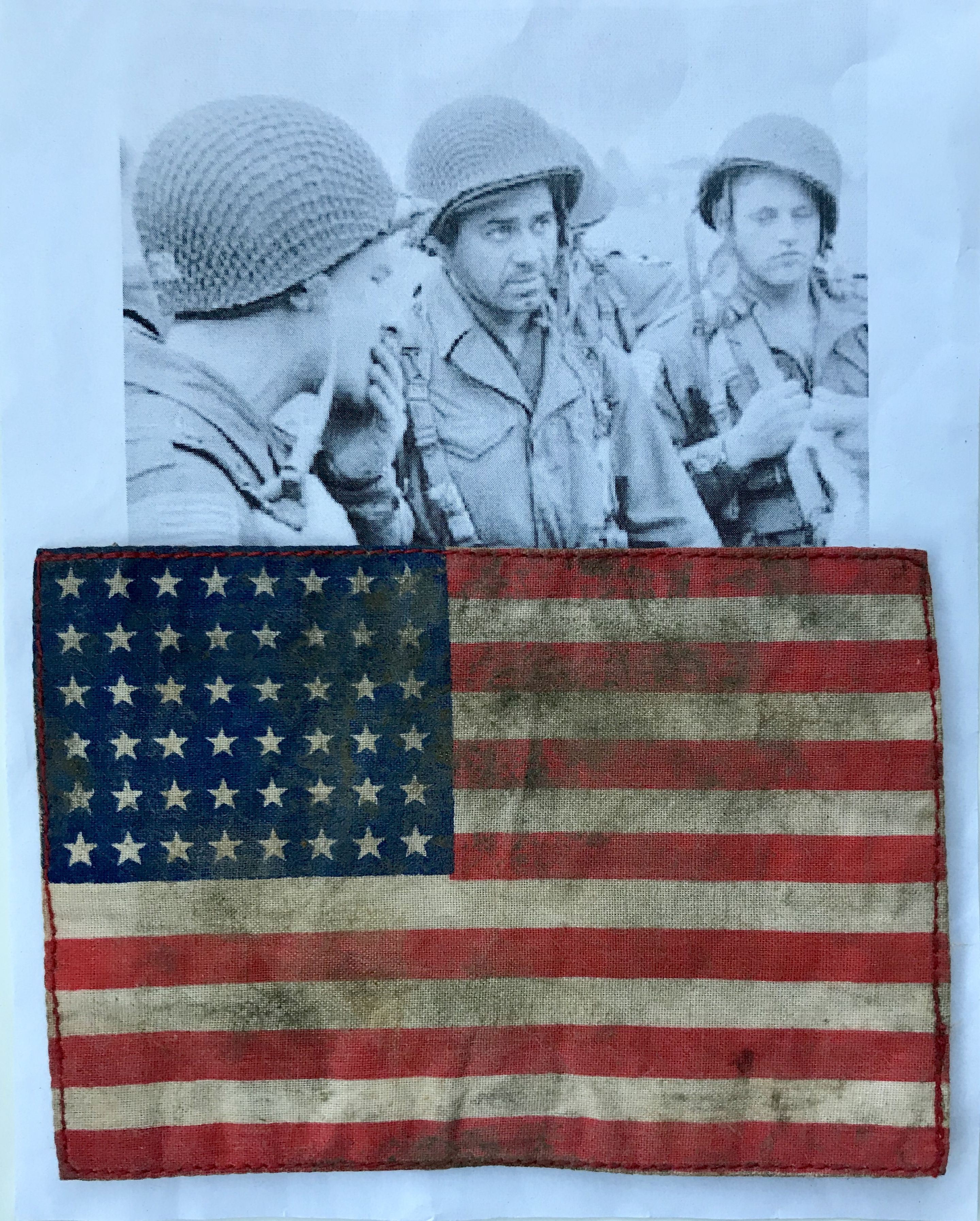 Wwii Us Army Invasion Arm Flag Worn By Airborne Troops For Sale On Ebay