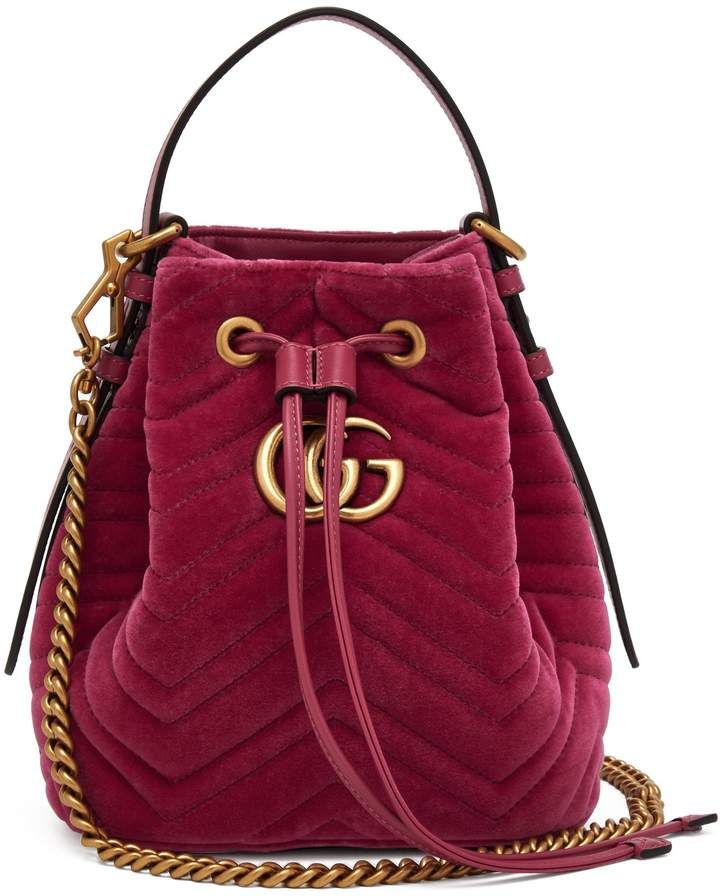 f9576c9e0 GUCCI GG Marmont quilted-velvet drawstring bucket bag | [GROUP BOARD ...