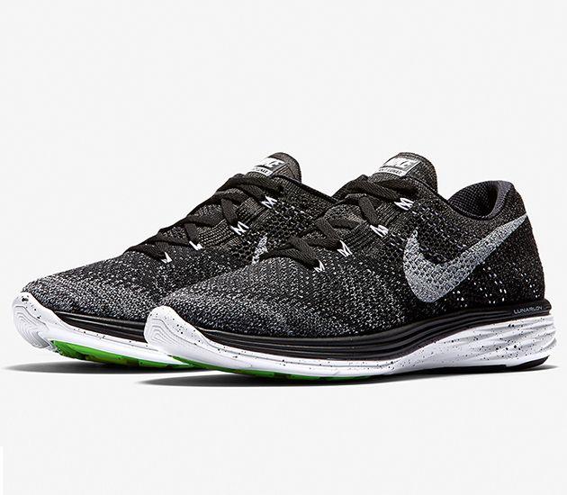 Nike Flyknit Lunar 3 Black Midnight Fog Wolf Grey White Nike Flyknit Nike Flyknit Lunar 3 Nike