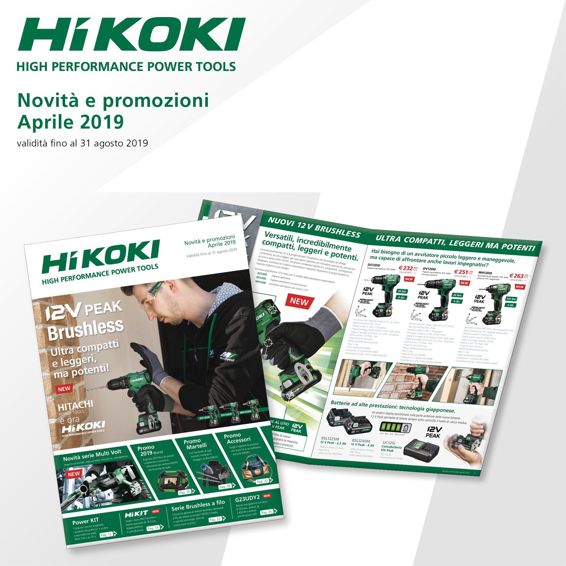 Novità e Promozioni HiKOKI Power Tools Aprile 2019