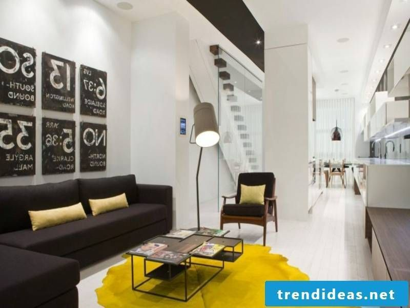 25 Extremely Modern Furnishing Examples In Yellow #Interior Design | Yellow  Carpet In The Living