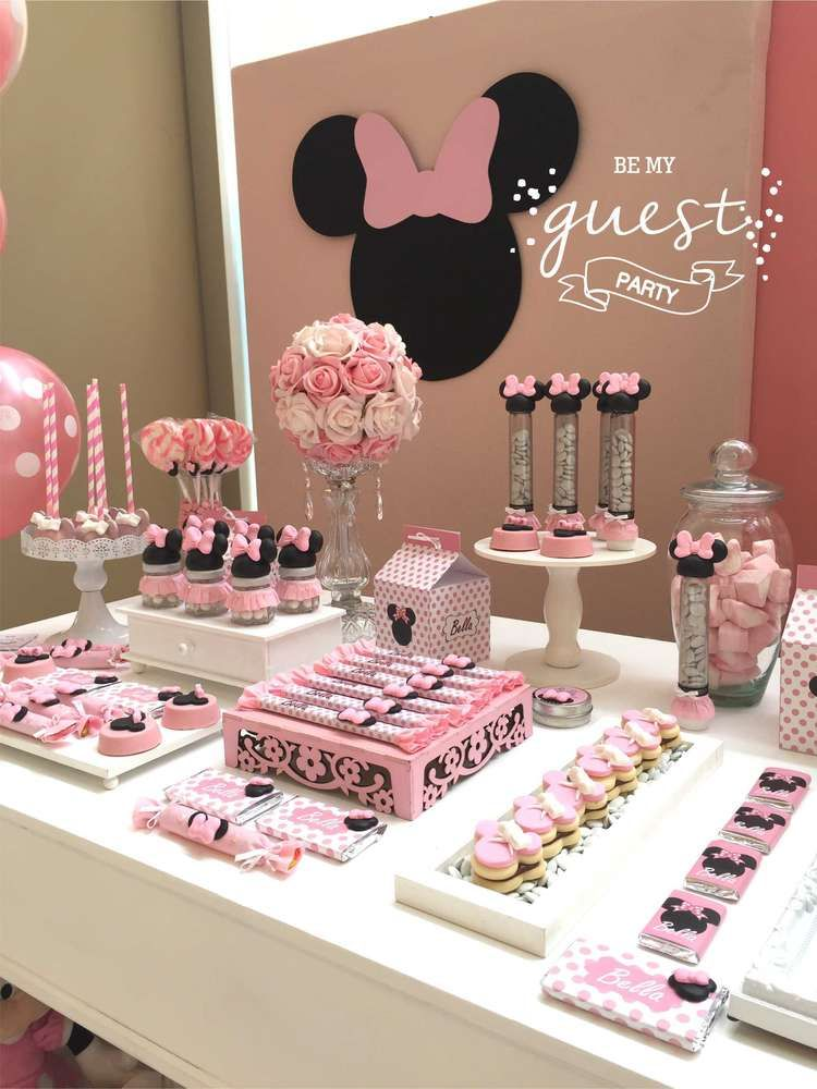 Minnie Mouse Birthday Party Ideas Photo 1 Of 36 Minnie Mouse Birthday Party Decorations Minnie Mouse Birthday Party Ideas Diy Minnie Mouse Birthday Decorations