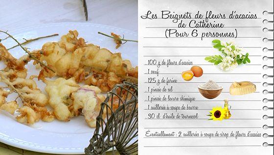 beignets de fleurs d'acacias de catherine - recettes - les carnets
