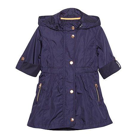 e55c2e689 Baker by Ted Baker Girl s navy lightweight belted mac coat- at ...