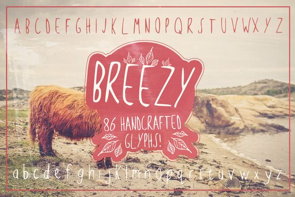 Breezy Handsketched Font by Layerform Design Co. on @creativemarket