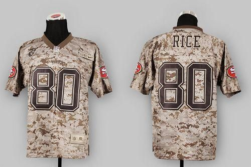 new style 950cd 7c50a Rams Jared Goff jersey Nike 49ers #80 Jerry Rice Camo USMC ...