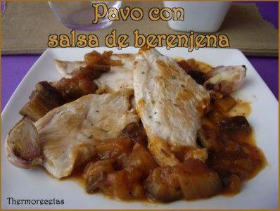 Pavo Con Salsa De Berenjena Food Meat Pork