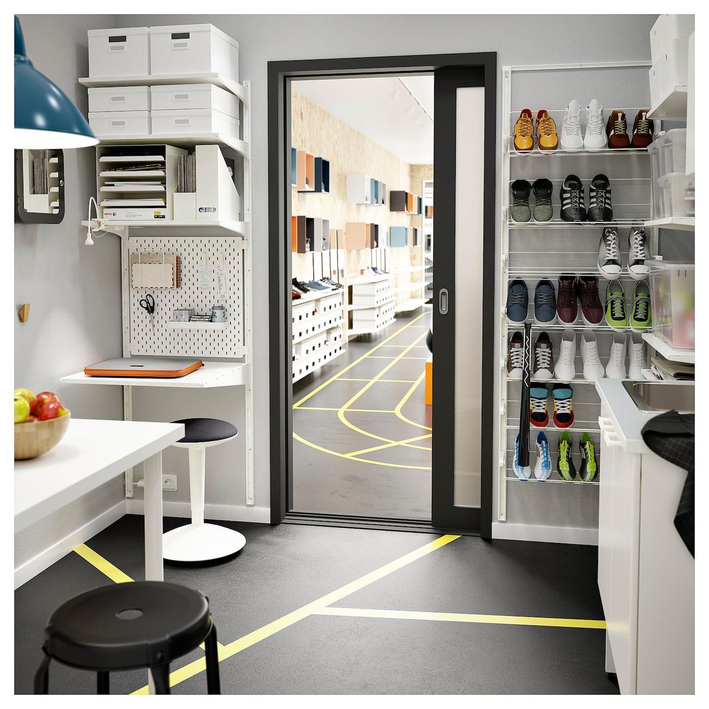 ALGOT Crémaillère/organiseur chaussures - blanc - IKEA en 2020 | Ikea algot, Idées étagères ...