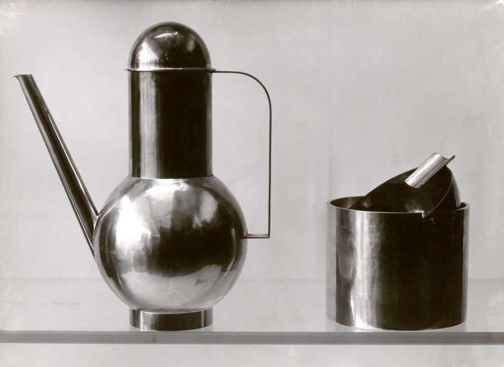 Lucía Moholy. Bauhaus metal objects designed by