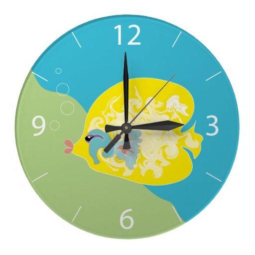 #Cute #Fish #Round #Clocks
