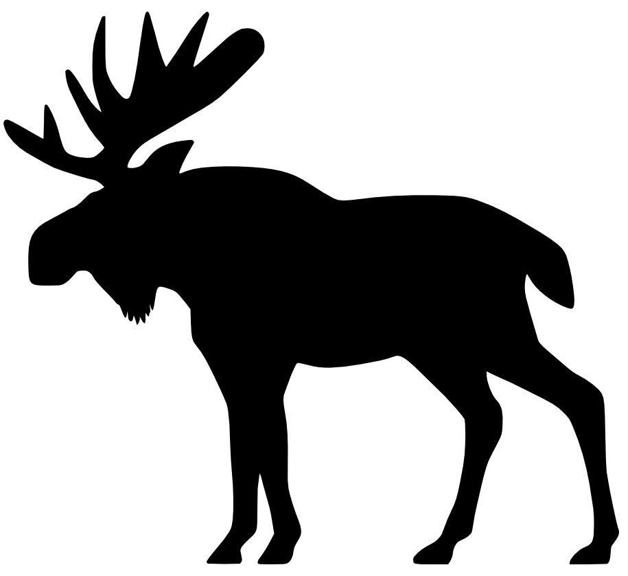 cartoon moose clipart free clip art images image 9 cricut rh pinterest com Moose Silhouette Christmas Moose Clip Art