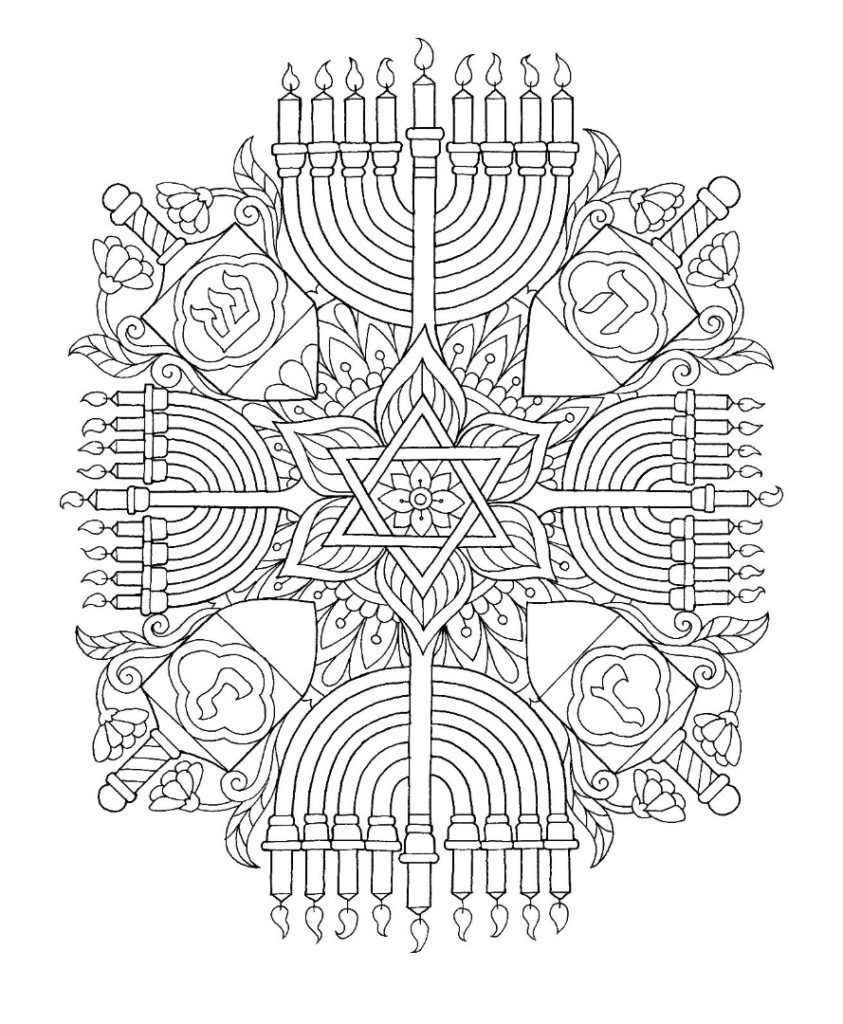 Hanukkah Coloring Pages Jewish crafts, Coloring pages