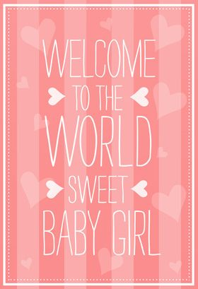 Welcome To The World Baby Shower New Baby Card Greetings Island New Baby Cards Baby Girl Wishes Welcome Baby Girl Quotes