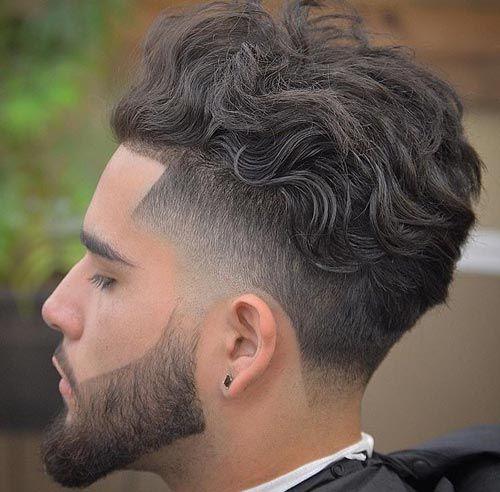 Messy Top With Temple Fade And Undercut Undercut Fade Haircut Curly Hair Men Wavy Hair Men Taper Fade Haircut