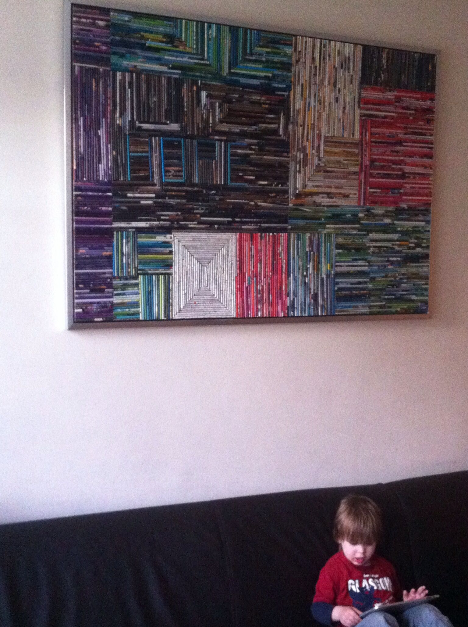 Schilderij van opgerold papier naar idee hier op pinterest dim pinterest - Babykamer schilderij idee ...