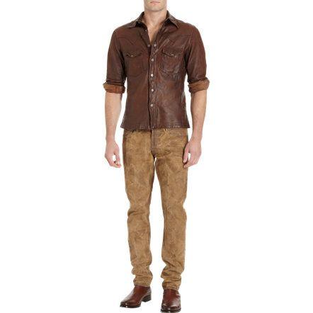 Ralph Lauren Black Label Denim Washed Canvas Jeans at Barneys.com