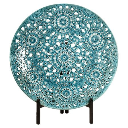 Ceramic decorative charger plate with stand.Product ...