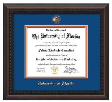 University of Florida Diploma Frame - This Mahogany Braid diploma ...