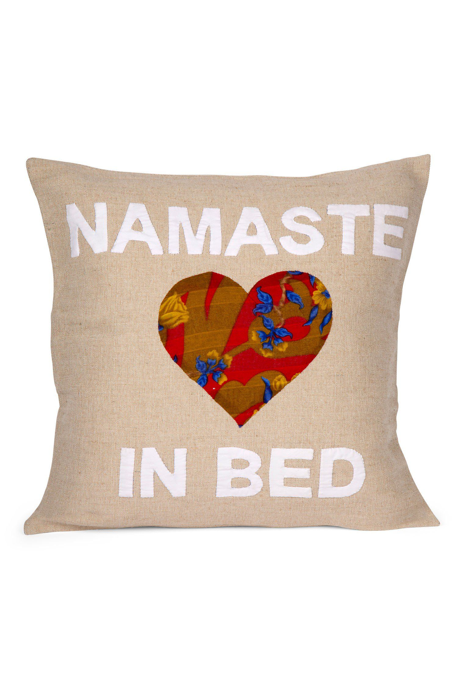 Namaste in Bed Pillow Zzz Pinterest Mindful yoga Namaste and
