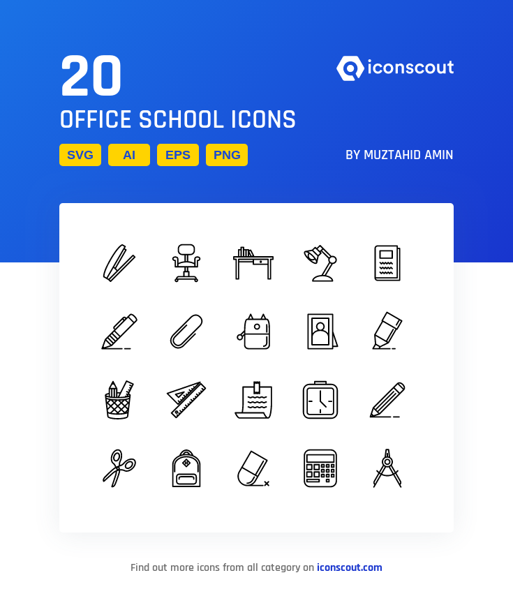 Download Download Office School Icon pack - Available in SVG, PNG ...