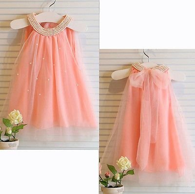 Princess Girl Baby Kid Wedding Dresses Fancy Party Pageant Lace ...