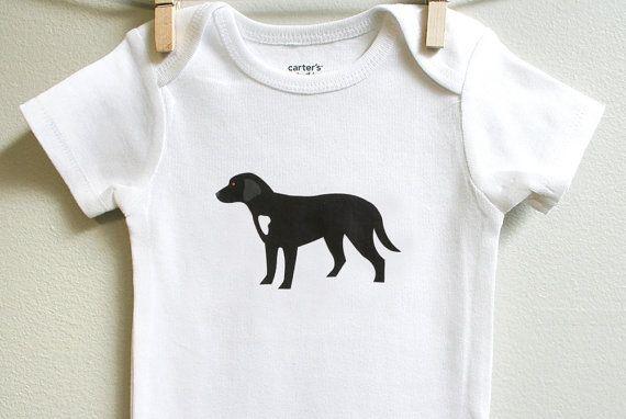Baby Clothes Black Labrador Baby Bodysuit Baby Boy Baby Girl